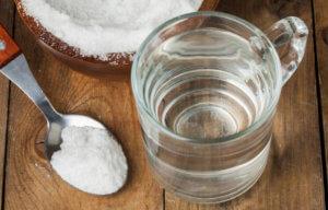 Солевый и содовый раствор для полоскания горла