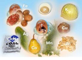 Элементов недостает или содержатся в организме  избытке