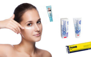 Противогеморройные мази помогают убрать мешки под глазами