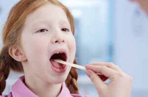 Заболевание детей острым тонзиллитом
